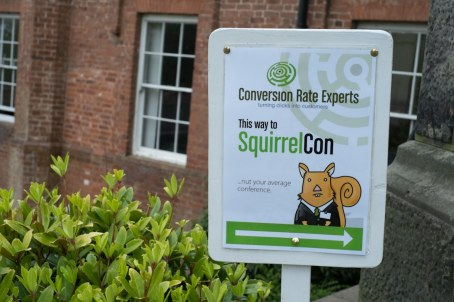 Sign for SquirrelCon.