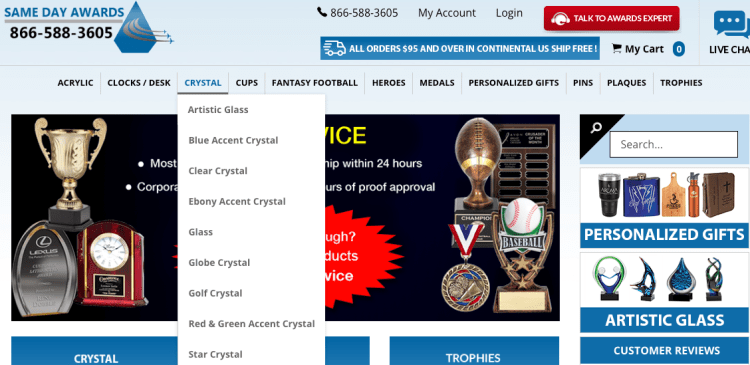 Browse our homepage for categories