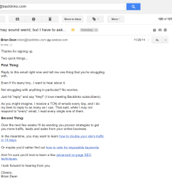 confirmation email from brian dean [ 1600 x 1017 Pixel ]
