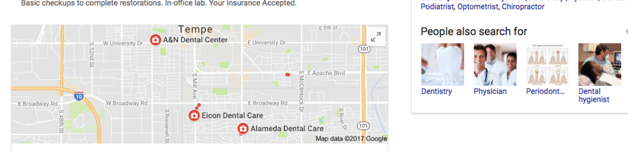 dentists google az