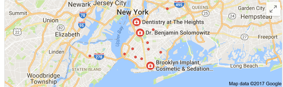 map of brooklyn dentist