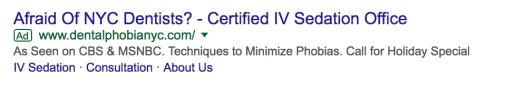sedation google ad