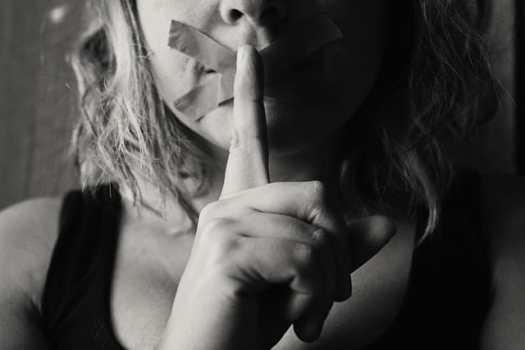 woman quiet