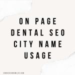 On Page Dental SEO