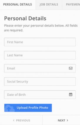 multi-step form on mobile