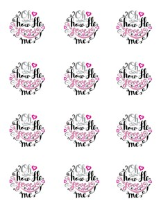free valentines printable - oh how he loves me collage sheet