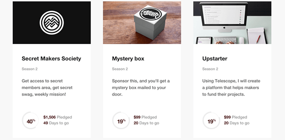 Image: Secret Makers, Mystery Box, and an app called Upstarter