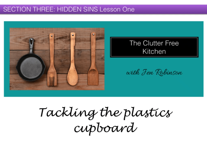 The Clutter Free Kitchen Course Sample
