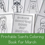 Printable Saints Coloring Book for March