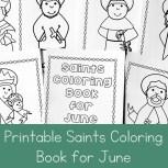 Printable Saints Coloring Book for June