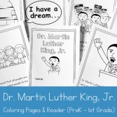 Martin Luther King Jr Coloring and Storybook Printable