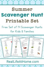 Summer Scavenger Hunt Printable Set