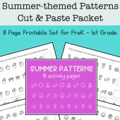 Summer Math Patterns Packet