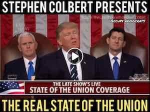 Colbert presents the REAL State of the Union
