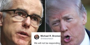 McCabe embarrasses Trump with warning