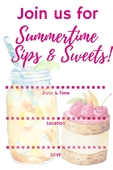 Raspberry sips and sweets invite w o name