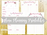 Menu planning printables cover