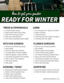Garden ready for winter