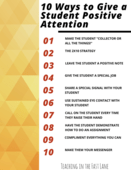 10 ways to give positive attention