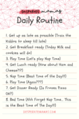 Desperate mamas daily routine (pin 1)