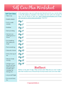 Printable   self care plan worksheet 150.pages