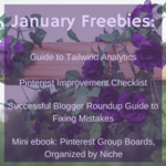 January freebies graphic