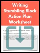 Personal writing stumbling block action plan 3