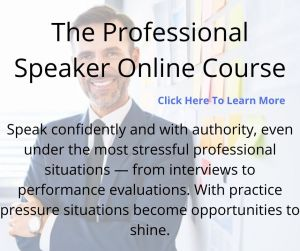 the professional speaker with convey