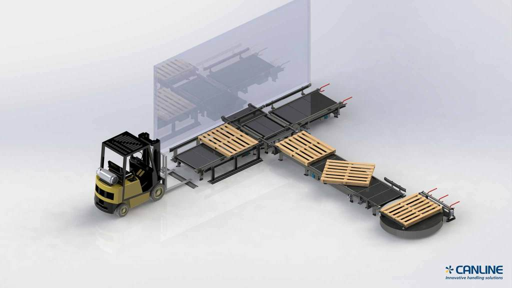 Pallettransport - Pallet conveyor - Canline