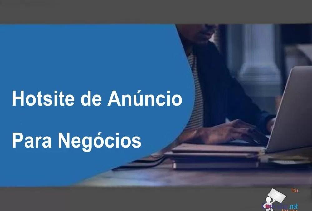 Hotsite de Anúncio Para Negócios | Características