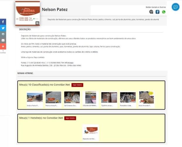 perfil deposito de materiais nelson patez