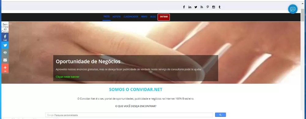 a arte de fazer propaganda na internet com o Convidar.Net