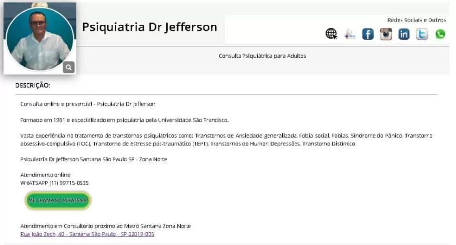 Perfil Psiquiatria Dr Jefferson - Como Fazer propaganda Grátis na Internet