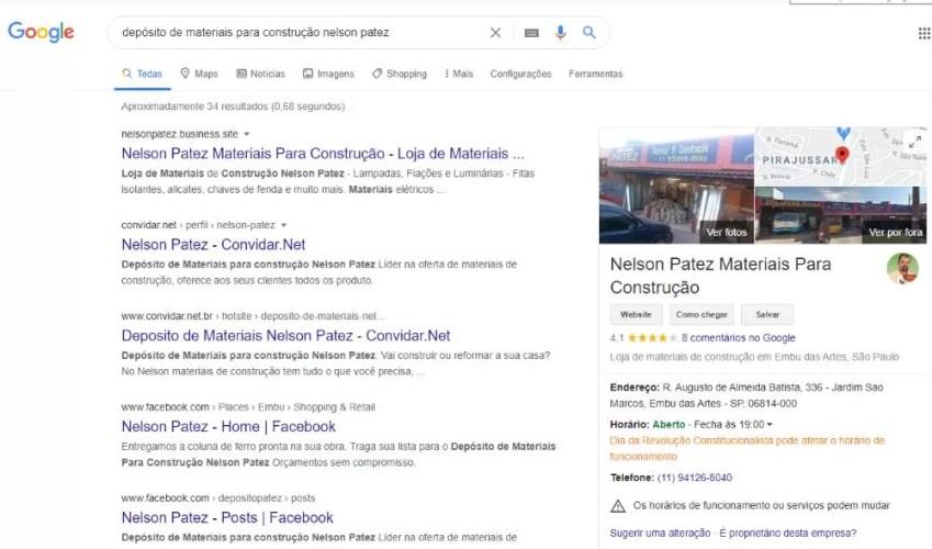 Como Anunciar Grátis no Google depósito de materiais de construção