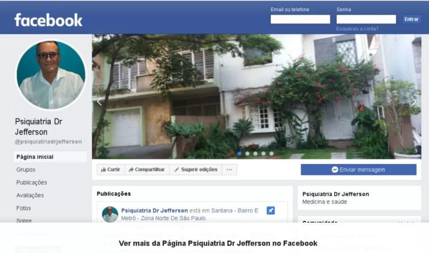 Perfil Facebook da Psiquiatria Dr Jefferson