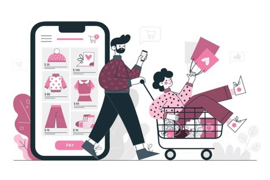 USP ilustracao-do-conceito-de-compras-online