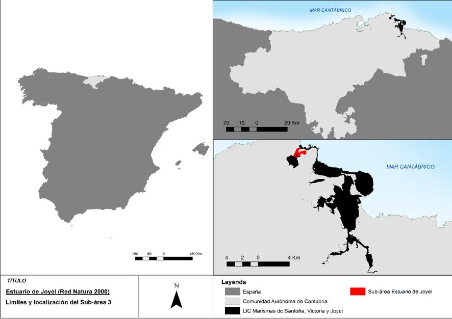Localización del estuario de Joyel