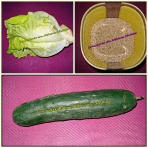 Ensalada de pepino con sésamo anti-cándida