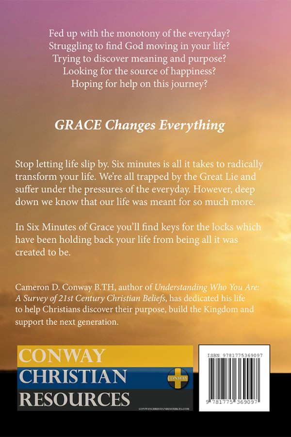 Six Minutes of Grace back cover