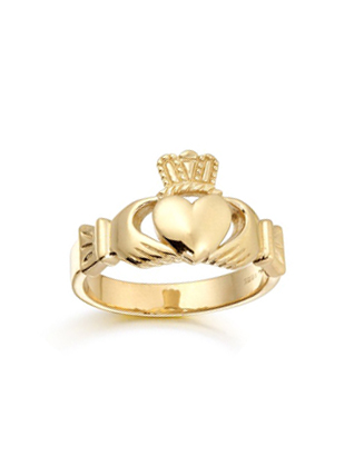 Gold Gents Claddagh Ring 9ct