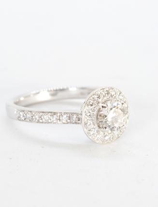 18K White Gold Diamond Engagement Ring 1.2 carat