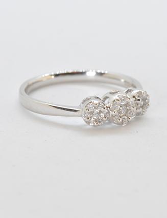 14K White Gold Diamond Engagement Ring .26 carat