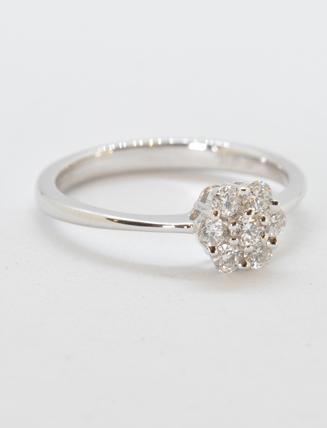 18k White Gold Diamond Engagement Ring .33 carat