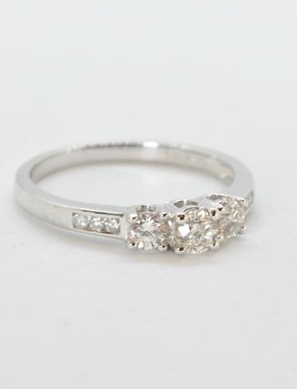 9k White Gold Diamond Engagement Ring .50 carat