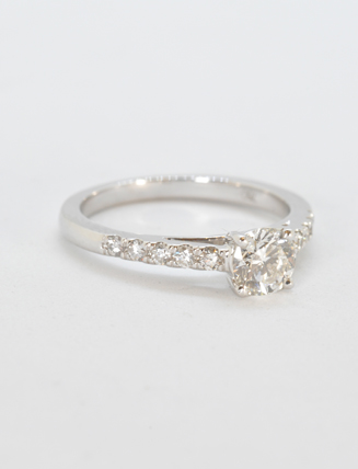 8K White Gold Diamond Engagement Ring .65 carat