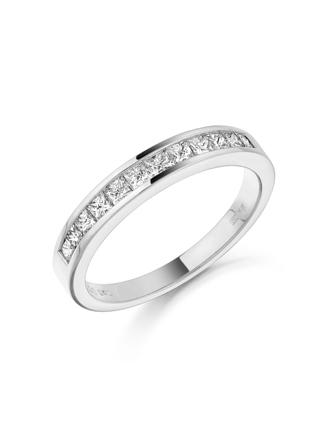 18ct White Gold Diamond Wedding Ring 010