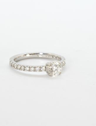 Platinum Diamond Engagement Ring 001 1.10 carat
