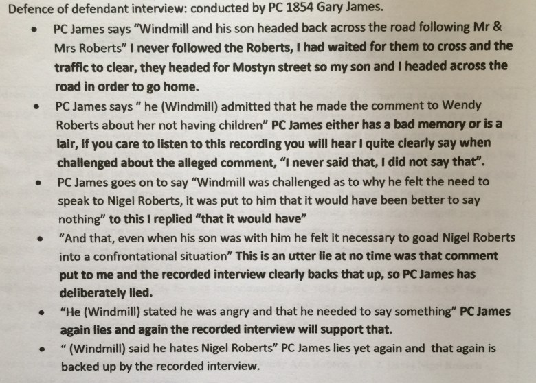 PC 1854 Gary James and his lies continued.