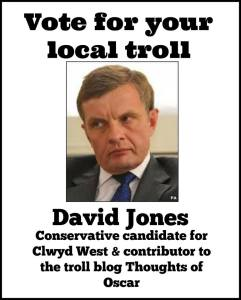 David Jones MP for Clwyd West, an internet troll.