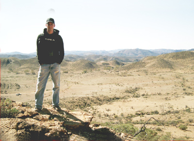 Jonathan Giddings standing on the reef at Flinders Ranges